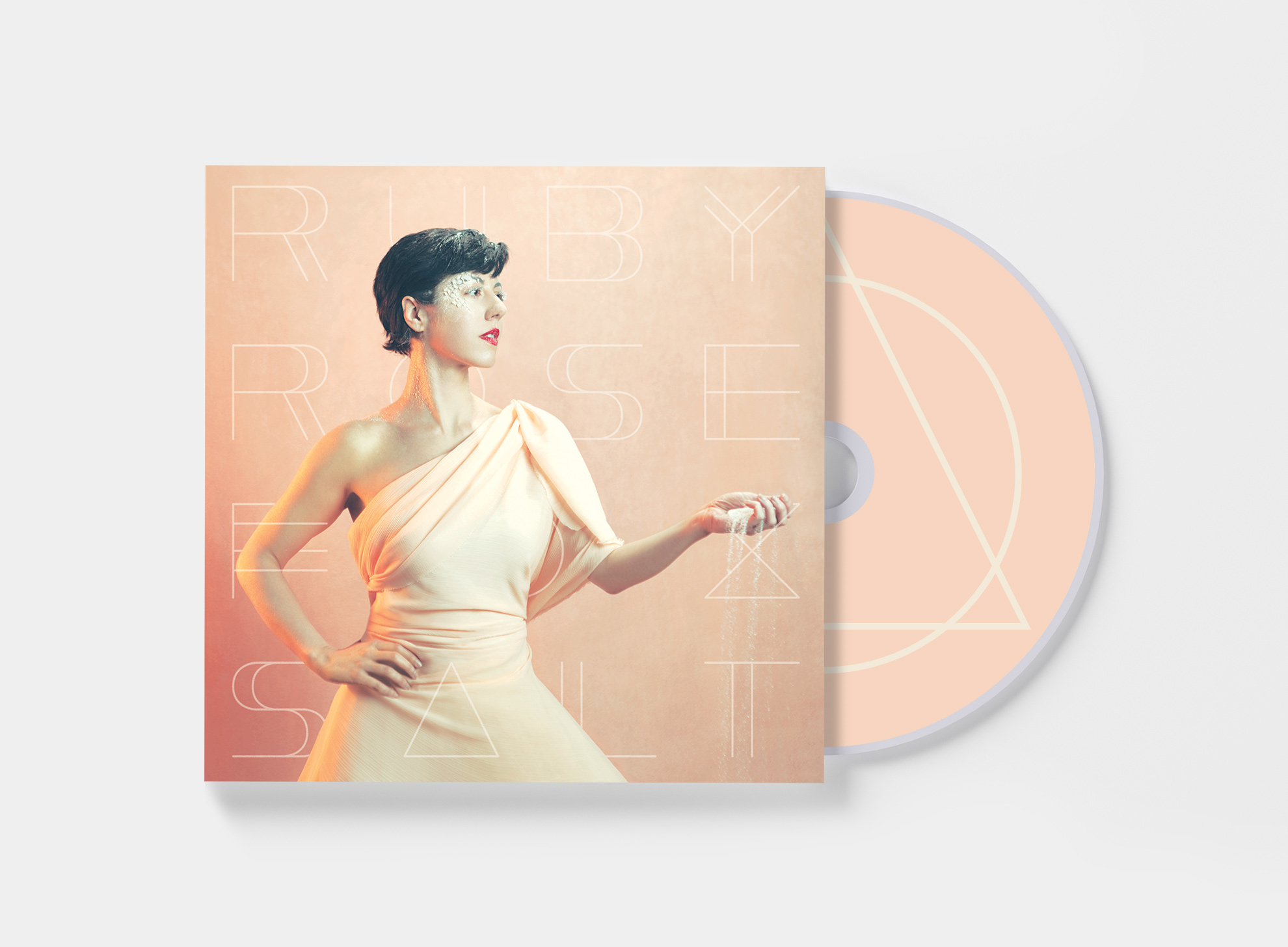 "Mockup of Ruby Rose Fox's ""Salt"" - CD edition"