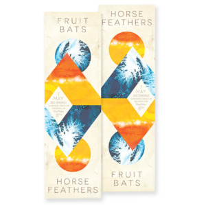 Fruit Bats Horse Feathers Diptych poster