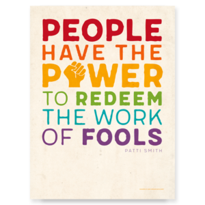 Patti Smith People Have the Power Poster